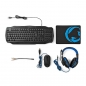 Preview: Gaming-Set | 4-in-1 | Tastatur, Headset, Maus und Mousepad | Deutsches Layout