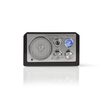 Nedis RDFM5100BK UKW-Radio | 9 W | Analoges Tuning | Retro-Design | Schwarz